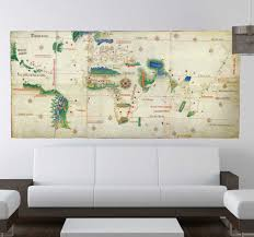 Old World Map Wall Decal Tenstickers