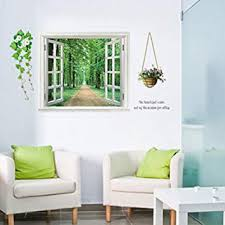 Amazon Com Kaimao Alameda Alley 3d Window Decal Wall Sticker Art Murals Removable Wallpapers For Home Decoration Home Improvement