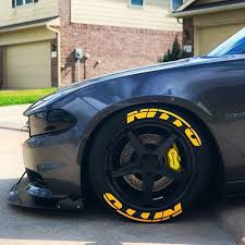 Tire Stickers Is The World S First And Only Official Provider Of Tire Decals Whether It S Branded Lettering Or Customized Tire Le Nitto Tire Dodge Charger Car