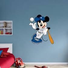 Fathead Mickey Mouse New York Yankee Wall Decal Walmart Com Walmart Com