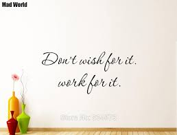 Don T Wish For It Work For It Gym Motivation Wall Art Stickers Wall Decals Home Diy Decoration Removable Decor Wall Stickers Wall Stickers Aliexpress