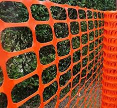 Amazon Com Ideal Fabrics 4 X150 Colored Snow Fence Roll Crowd Control Garden Netting Temporary Plastic Garden Fencing Above Ground Barrier For Kids Poultry Pool Lawn And Construction Area Orange Industrial