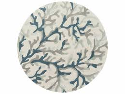 round teal light gray area rug