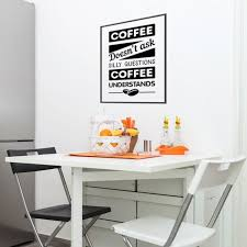 Coffee No Questions Wall Decal Shabby Chic Boho