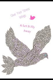 buy give your stress wings let it fly away inspirational quote