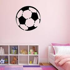 1 28 Soccerball Vinyl Wall Decal Pick Color Sports Decal Kid S Room Ebay