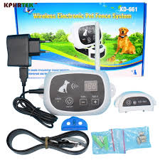 Wholesale Waterproof Rechargeable Wireless Electronic Pet Dog Fence System 1 2 3 Dog Kphrtek Kd 661 Electronic Pet Fencing System Electronic Pet Fencefence System Aliexpress