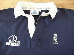 vine royal navy rugby shirt 44