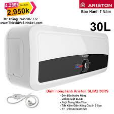 Bình Nóng Lạnh Ariston 30L Slim2 30RS - Tổng Kho Ariston Hà Nội