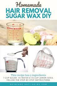 hair removal diy sugar wax for