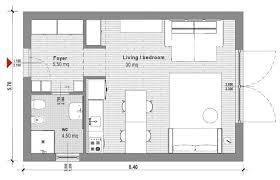 40 square meter studio apartment plan