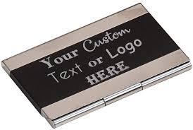 Amazon.com : Your Custom 3D Laser Engraved Chrome Business Card ...