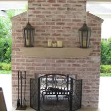 custom two way brick fireplace gable