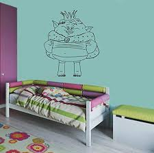 Amazon Com Prince Gristle Decal Trolls Wall Vinyl Decal Home Interior Sticker Kid Room Graphic Child Bedroom Applique Trolls14 Kitchen Dining