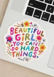 Beautiful Girl Vinyl Decal Sticker Polka Dots Boutique
