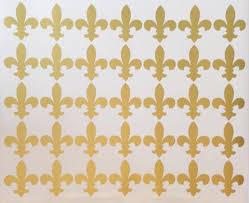 35 Metallic Silver Or Gold Fleur De Lis Vinyl Wall Decals