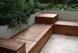 homemade storage furniture patio bench