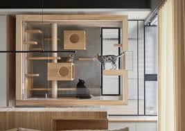 this wood and glass enclosure by indot