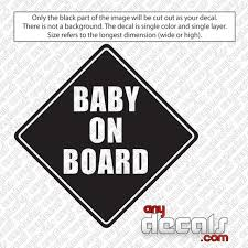 Car Decals Car Stickers Baby On Board Car Decals Anydecals Com