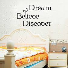 Dnven Quote Series Wall Decals Dream Believe Discover Peel And Stick Wall Decals Stickers For Bedroom Living Room Babyroom Girly Room 20 11 Inches Wish