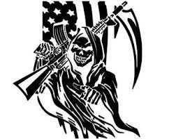 Grim Reaper Decal Etsy