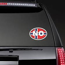 Norway No Flag Oval Sticker