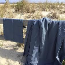 navy blue linen duvet sheets shams