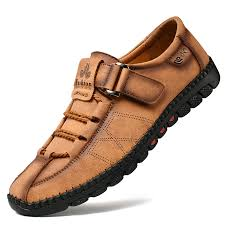 leather soft soled shoes men casual