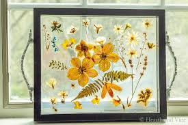 pressed flower resin tray makes a