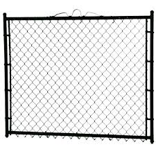 Yardgard 3 1 2 Ft X 4 Ft Walk Through Steel Metal Chain Link Fence Gate Gsa4248pbl The Home Depot