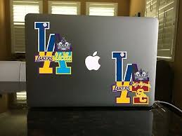68 05 Los Angeles Dodgers Lakers Ucla Bruins Usc Kings Mash Up Logo Vinyl Decal Ebay
