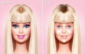 beautiful barbie without makeup