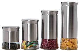 piece stainless steel canister set