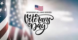 CLOSED for Veterans Day, Monday, Nov. 12 — Village of Edwardsburg