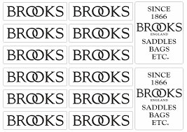 Brooks Saddles Bicycle Stickers Factory Decal Frame Graphics Adhesive 14 Pcs Ebay