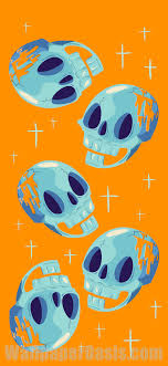 blue skull iphone wallpaper