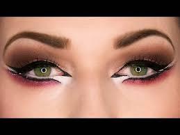 dramatic arab eyeliner makeup tutorial