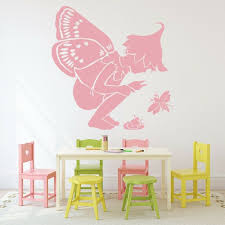Pixie Fairy Wall Decals Nursery Kids Room Fairytale Vinyl Wall Stickers Living Room Bedroom Decor Accessories Removable W055 Wall Stickers Aliexpress