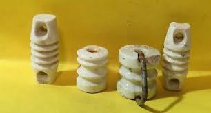 Vintage White Porcelain Electric Fence Insulator Chipped 1 99 Picclick