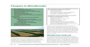 Chapter 6 Windbreaks The Center For 92 Training Manual For Applied Agroforestry Practices