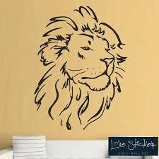 Beautiful Lion Africa Safari Zoo Animal Kid Wall Art Decor Vinyl Decal Sticker Home Furniture Diy Wall Decals Stickers