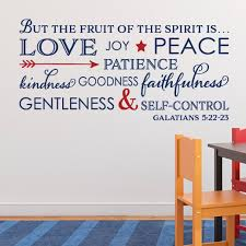 Galatians 5 22 Vinyl Wall Decal 7 Fruit Of The Spirit Love Joy Peace Patience Kindness Gentleness Faithfulness Self Control Bible Gal5v22 0007