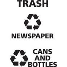 Rubbermaid Commercial Products Cans And Bottles Recycling Decal For Classics At Menards
