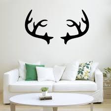 Chic Holiday Christmas Reindeer Deer Antler Vinyl Wall Art Decal 2 Imprinted Designs