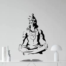 Amazon Com Shiva God Wall Decal Indian Gods Vinyl Sticker Hinduism Wall Art Indian Religion Yoga Decor Design Meditation Room Decal Housewares Bedroom Decor Removable Wall Mural 101xxx Kitchen Dining
