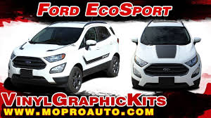 2013 2019 Ford Ecosport Hood And Side Stripes Vinyl Graphic Decal Moproauto Youtube