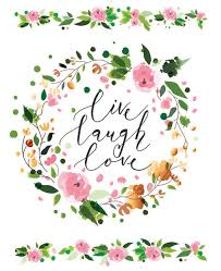 Live Laugh Love Inspirational Floral Wall Decal Usa