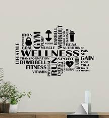 Amazon Com Fitness Words Cloud Gym Wall Decal Wellness Motivational Fitness Vinyl Sticker Inspirational Wall Decor Fitness Motivation Quote Sport Wall Art Training Workout Wall Mural 91fit Kitchen Dining