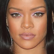 rihanna makeup black eyeshadow purple