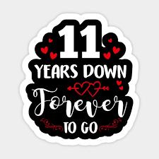 anniversary shirt 11 years down forever